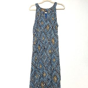 Lucky Brand sleeveless blue flowy max dress. Sz 2X